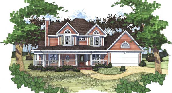 Country House Plan with 3 Bedrooms and 2 5 Baths Plan 5774