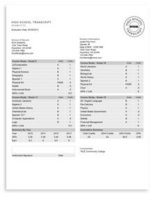 High school transcript service general homeschool for Official transcript template