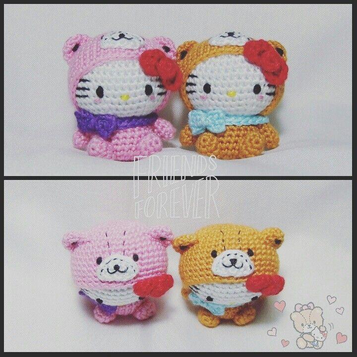 Hello kitty dress as tiny chum | Amigurumi | Pinterest | Muñecas ...