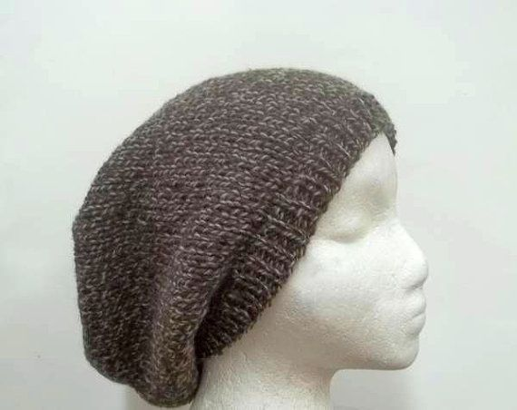 Wool slouch hat   Brown tweed beanie  mens hats  by CaboDesigns, $28.00
