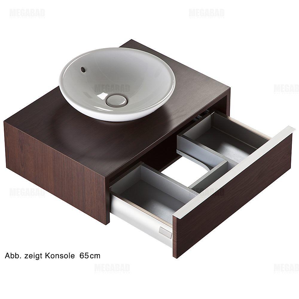 Architekt 100a Waschtischkonsole Mit Auszug 65 Cm Mbwtk0655001atz