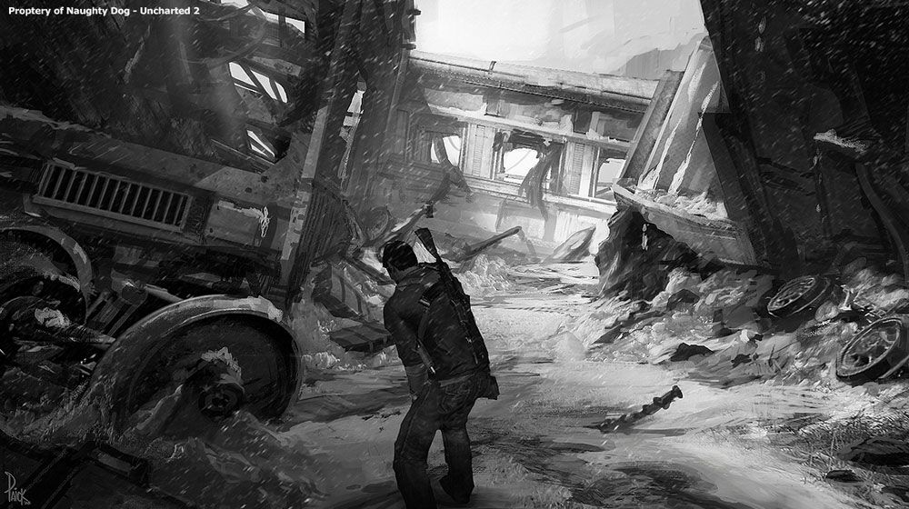 Train Wreck From Uncharted 2 Among Thieves Environment Design