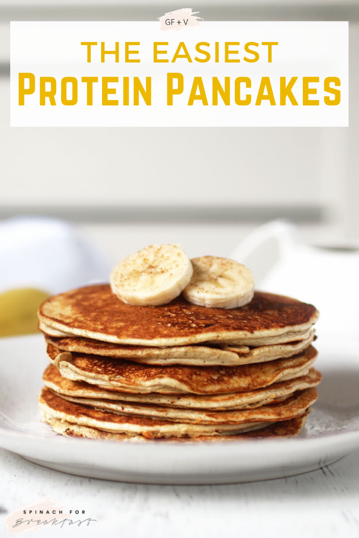 The Easiest Protein Pancakes Recipe In 2020 Easy Protein Pancakes Protein Powder Recipes Protein Pancakes Low Carb