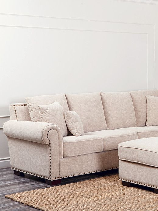 Sectionals With Nailhead Details Google Search Sectional Sofa With Chaise Sectional Sofa