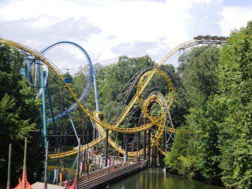 Reviews Of Roller Coasters At Busch Gardens In Williamsburg Va Rollar Coasters Pinterest