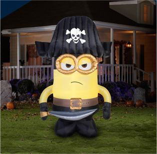 halloween inflatable decorations lighted minion pirate airblown x outdoor