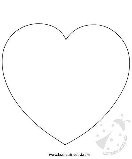 Sagoma cuore xxxx pinterest lettering for Cuori grandi da stampare