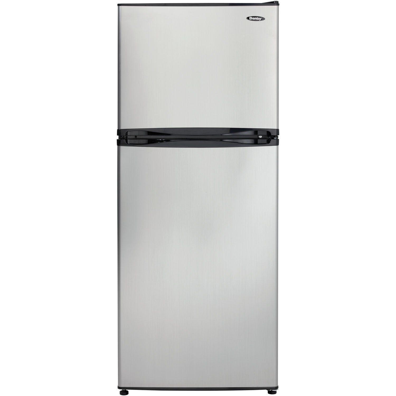 Danby Dff100c1bsldb Refrigerator With Top Mount Freezer 9 9 Cubic