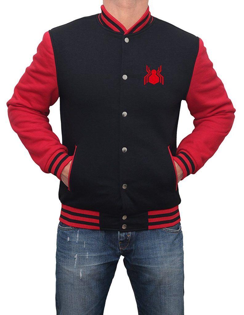 Fantasy Science Fiction Avengers Infinity War Spider Logo Varsity Jacket Varsity Jacket Varsity Letterman Jackets Bomber Jacket Men