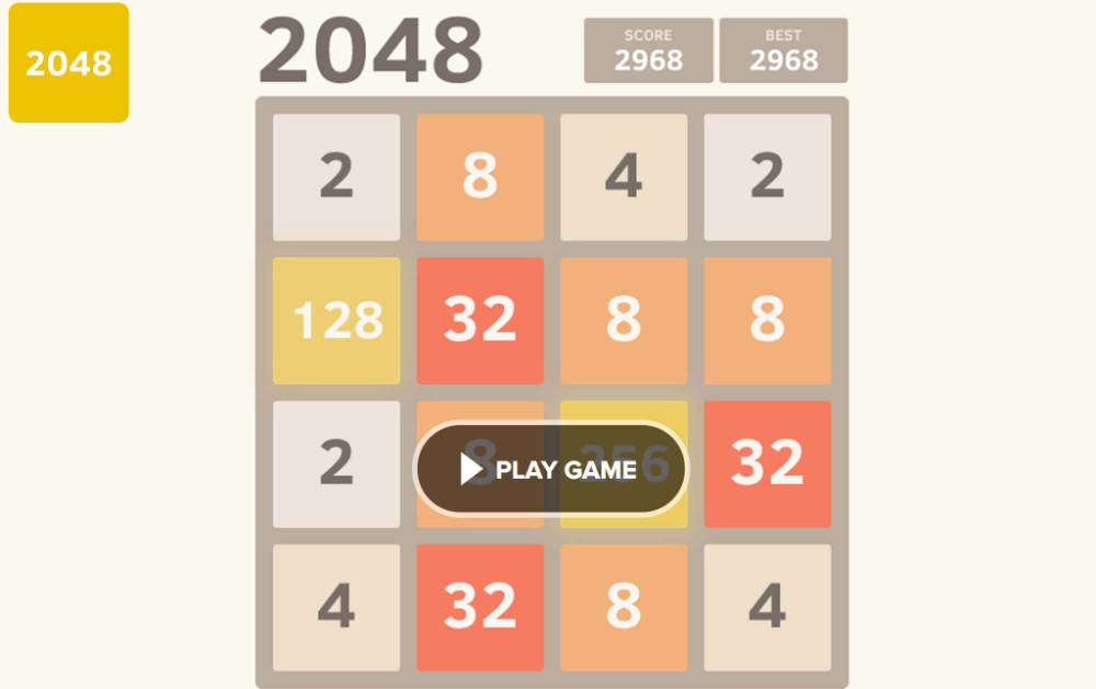 2048 unblocked games Games, Games to play