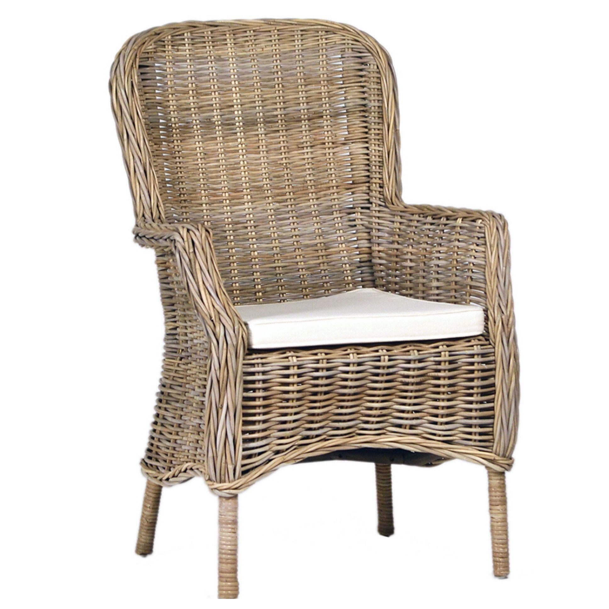Kannen arm chair armchair chair armchair rattan