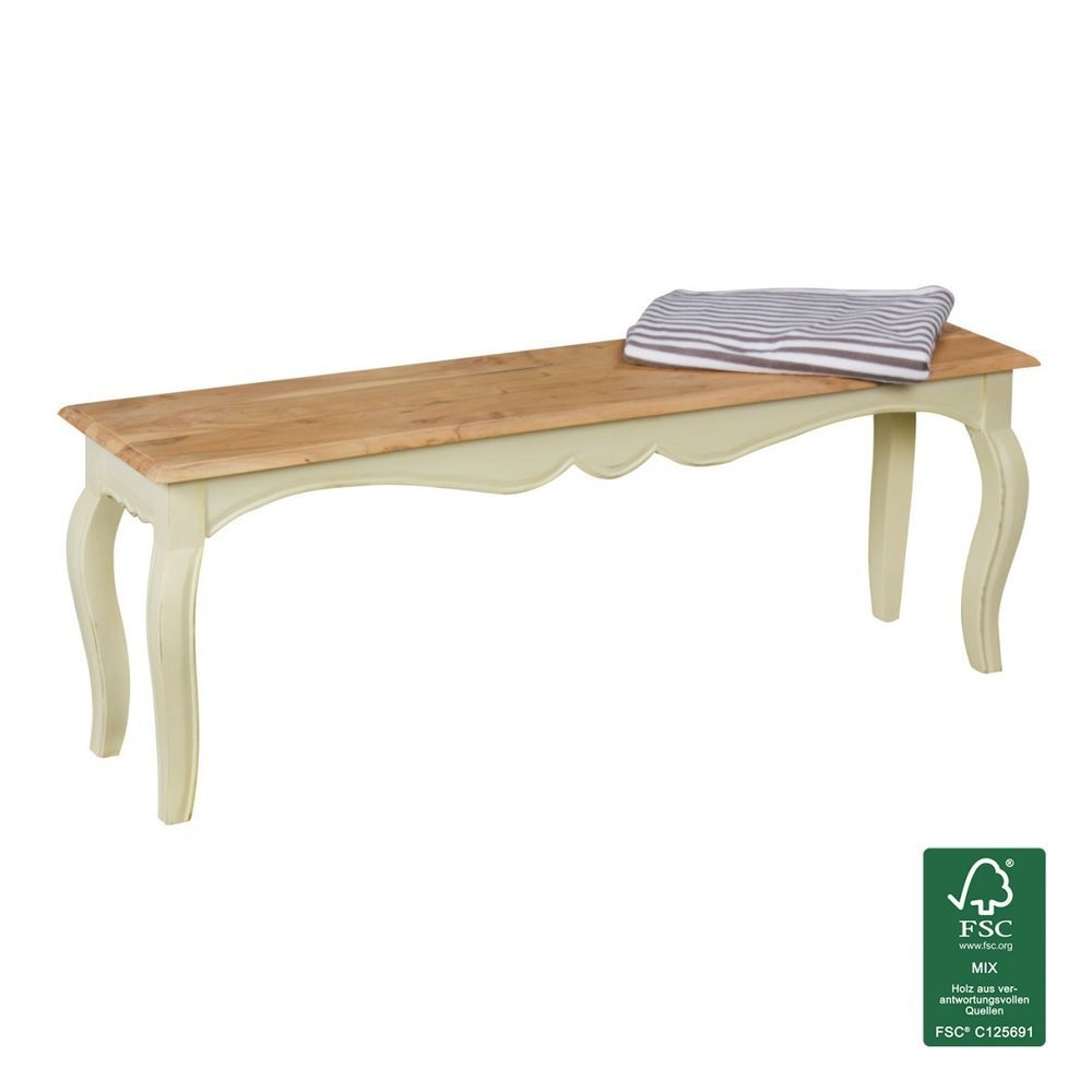 Sitzbank Shabby Chic Massiv Holzbank Weiss Esszimmer Bank Ohne Lehne Kuchenbank Furniture Dining Bench Decor