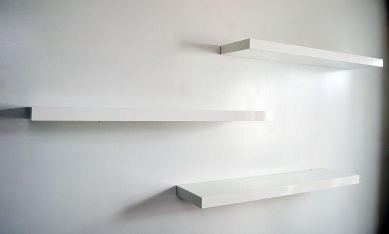 Floating white shelves | Home - Office Ideas | Pinterest