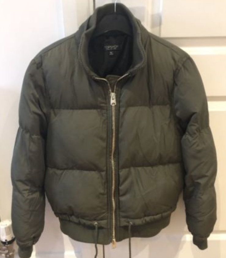 21ab939440d6 FOR SALE  Womens Gorgeous Khaki Green Size 8 Topshop Puffa Jacket - Perfect  Condition