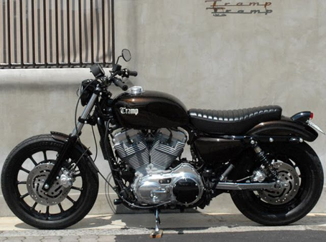 Harley Davidson Sportster Brat Style By Tramp Cycle Motorcycles Bratstyle Motos