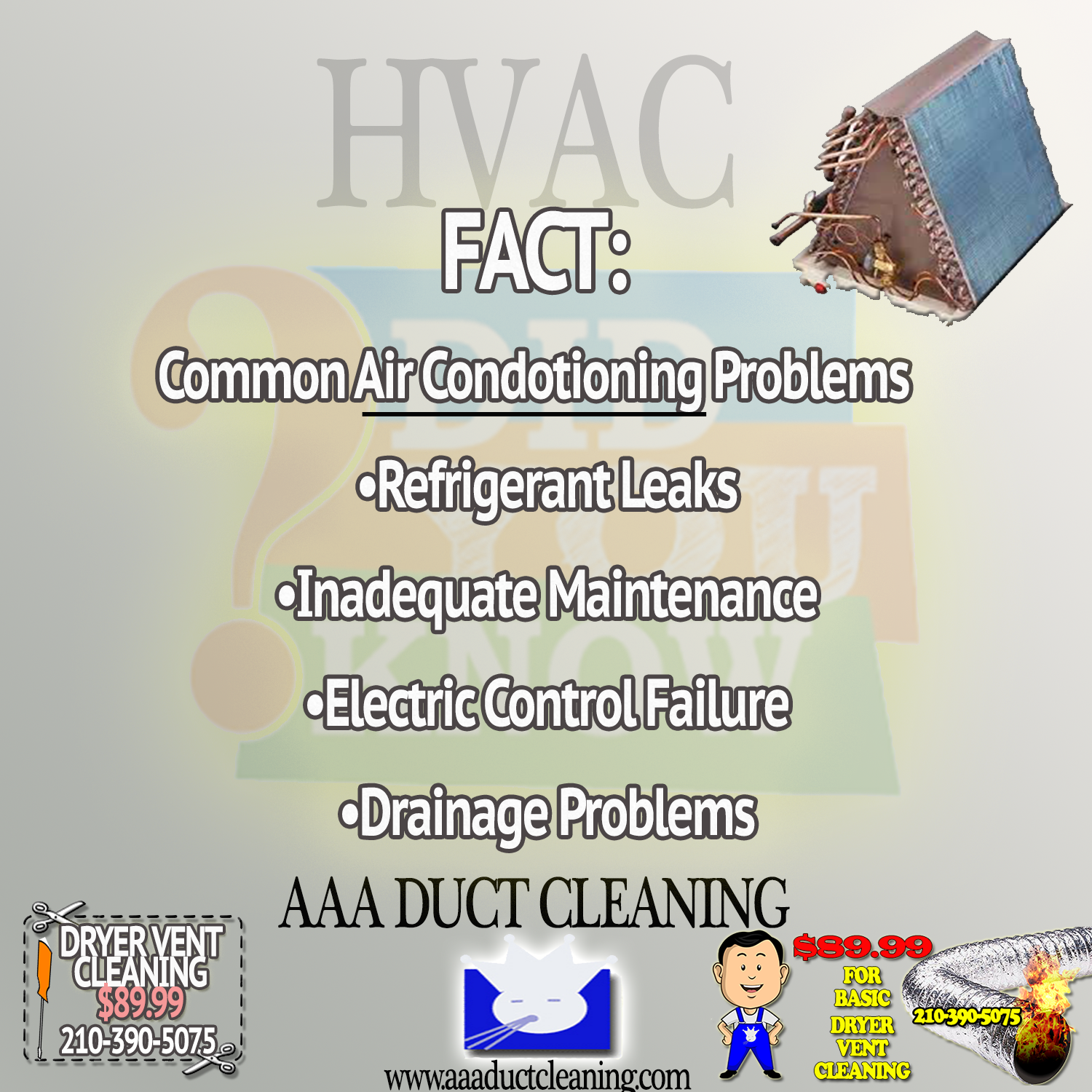 Common AC Problems diduknow fyi diy homemaintenance