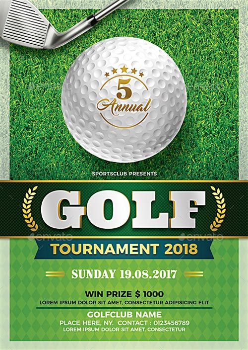 Golf Tournament Flyer Template Free Golf Golf Fundraiser