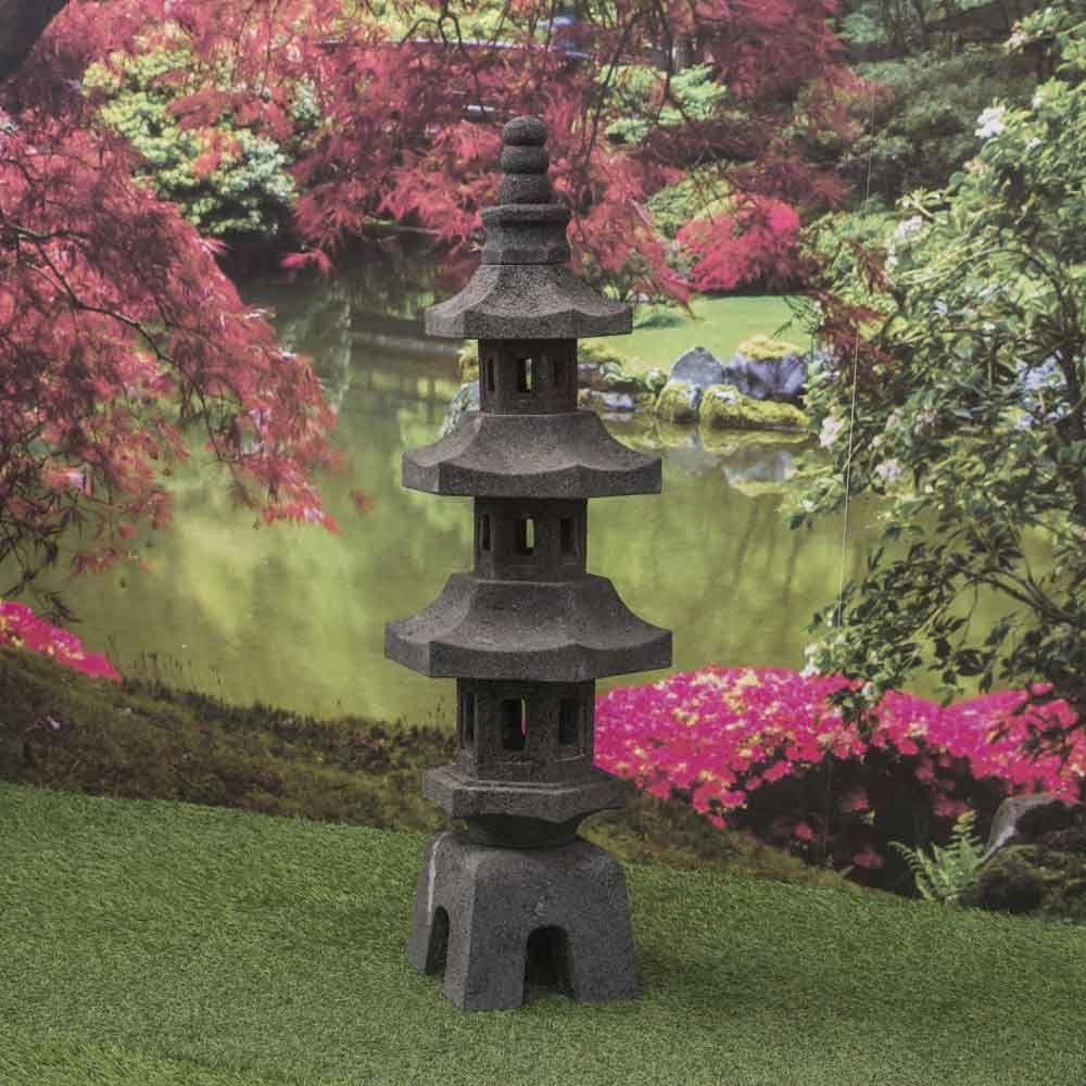 Lanterne Japonaise Pagode En Pierre De Lave Jardin Zen 100 Cm Mit Bildern Garten