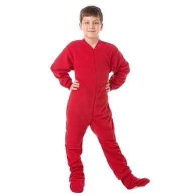 08c4daff7905 Big Feet PJs Big Boys Kids Red Fleece Footed Pajamas Sleeper (L (14 ...