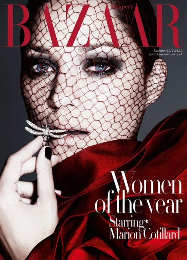 Marion Cotillard by Ben Hassett for the cover of Harper's Bazaar UK December 2012
