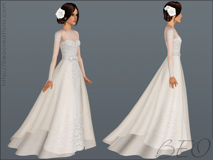 Wedding Dress 28 For Sims 3 By Beo 2 Sims 4 Dresses Sims 4