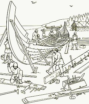 Hurstwic Viking Ships In 2020 Viking Ship Coloring Pages Coloring Books