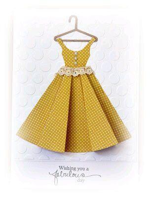 ms y ms manualidades Crea invitaciones con forma de vestido