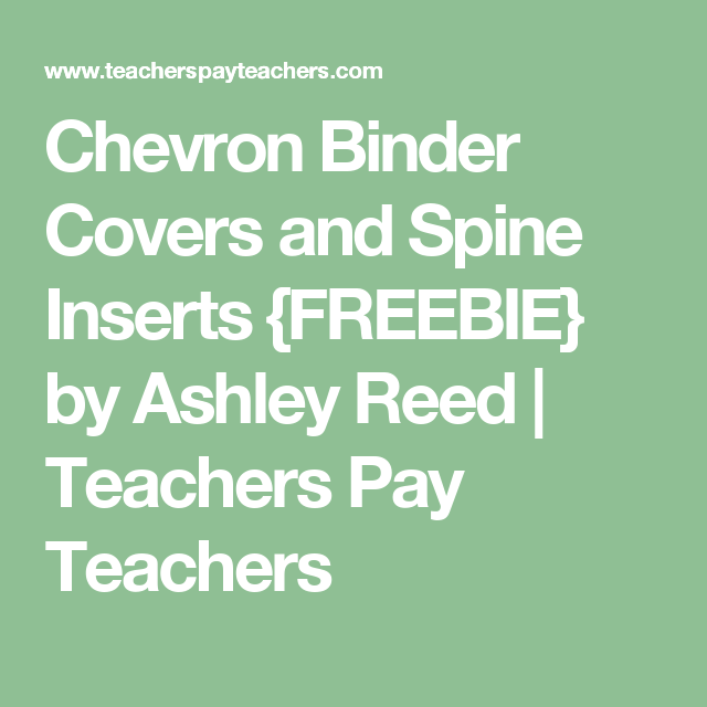 Chevron Binder Covers And Spine Inserts {FREEBIE} By