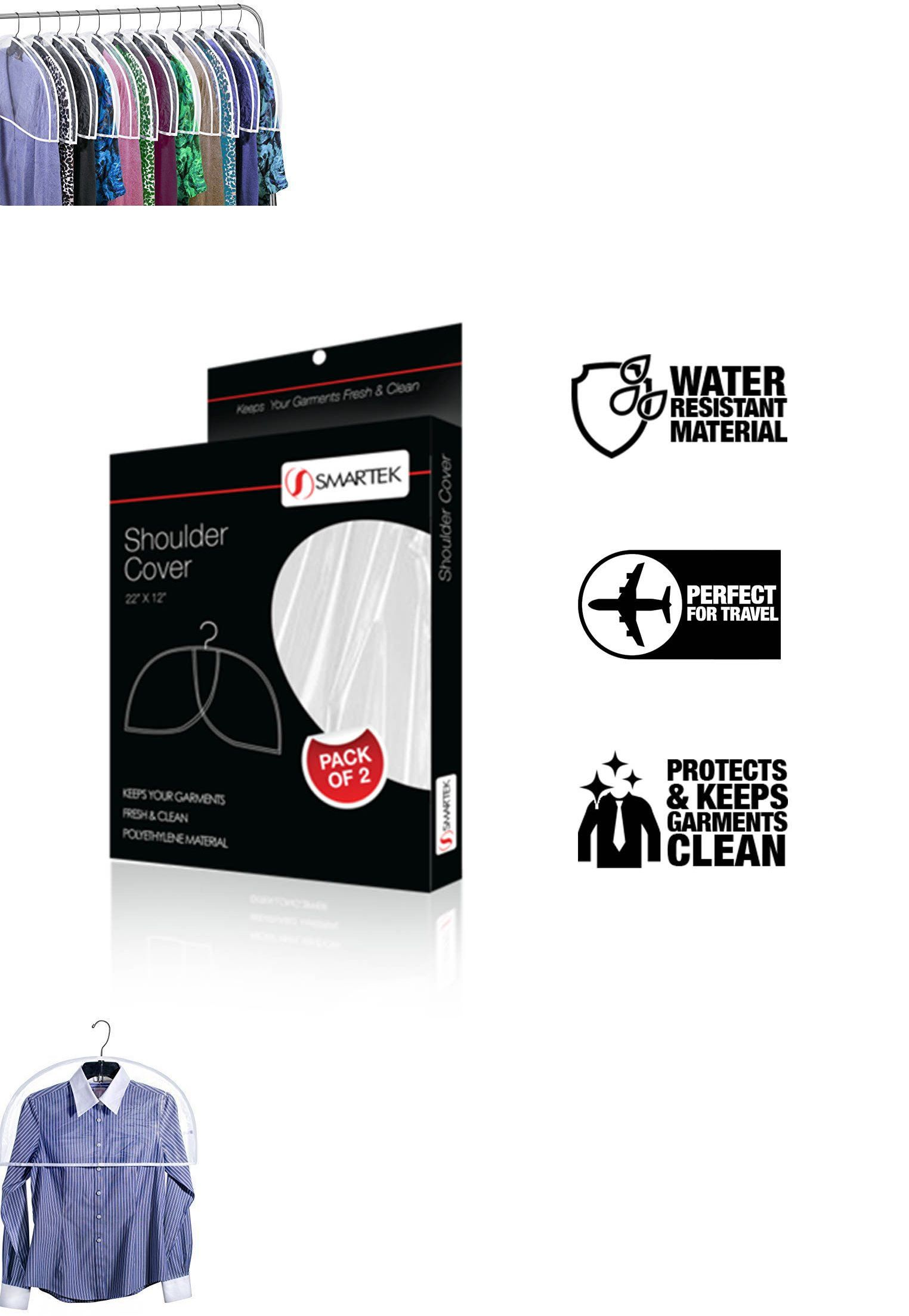 Clothes Hangers 116743 Garment Shoulder Dust Covers 12 Pack Vinyl Suit Clothes Hanger Protector Bags Buy It Clothes Hanger Dust Cover Bags For Sale Online