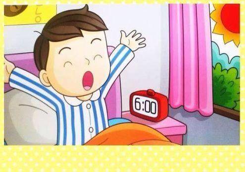 مجموعة من االكروت الملونة توضح الاعمال اليومية للطفل منذ ذهابه الى السرير للنوم حتى نزولة للمدرسة يمكن ان تستخدم مع أطفال التوحد ويمكن أيضا استخدامه مع الاطفال Preschool Activity Cartoon Drawing