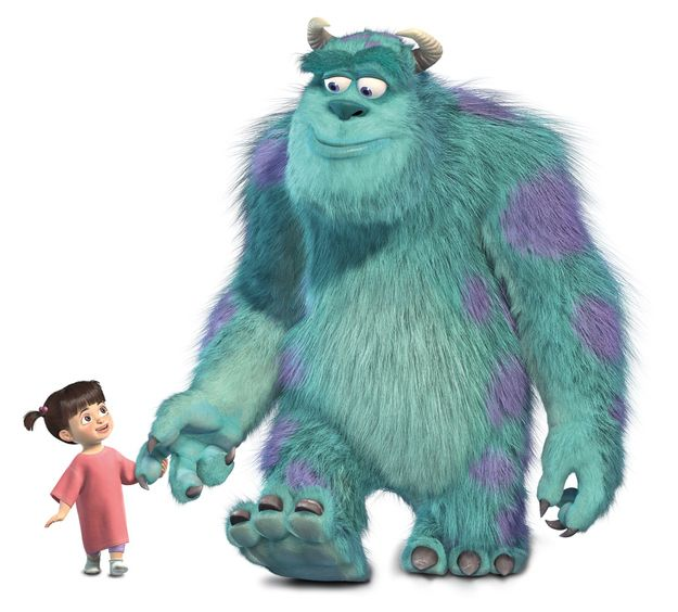 There Are Over 2 3 Million Individual Strands Of Hairs On Sulley Monsters Inc Characters Monsters Inc Boo Pixar Characters