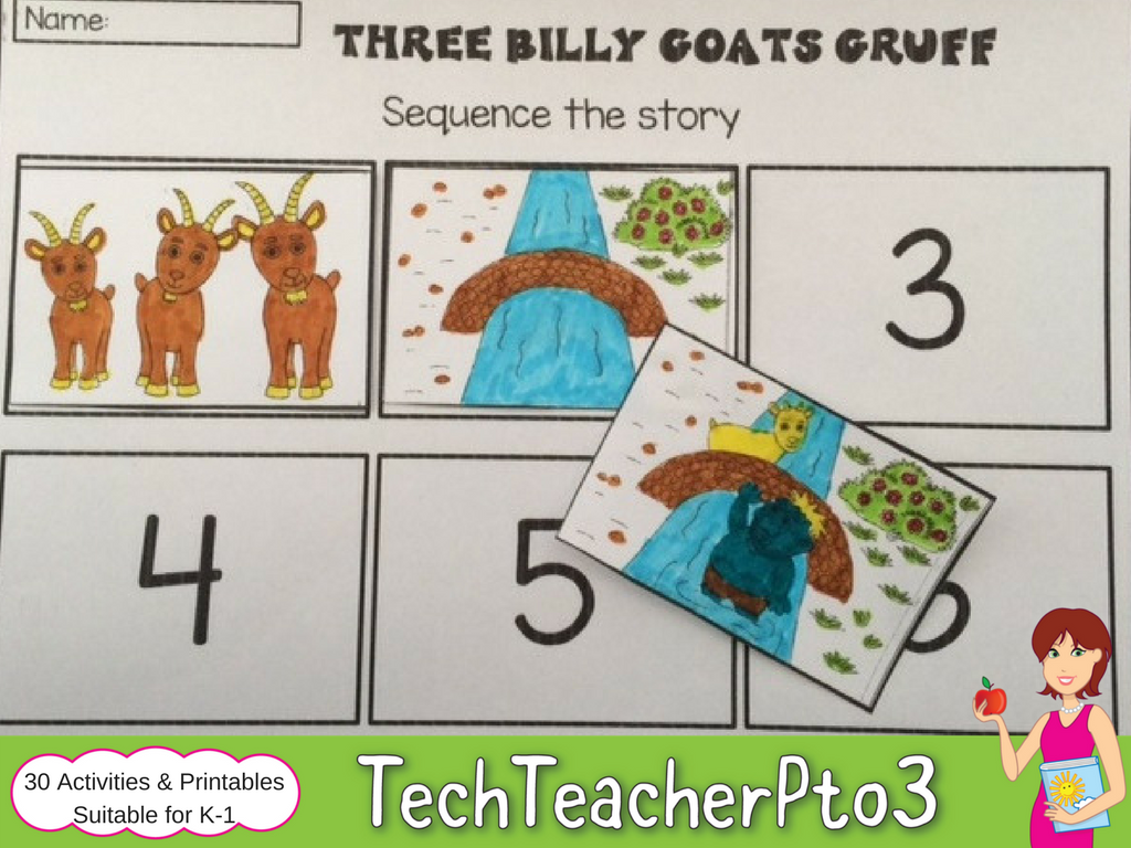 Three Billy Goats Gruff Literacy Activities