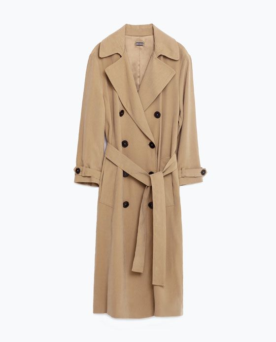 690c9833a8ed  129 Image 8 of LONG CROSSOVER TRENCH COAT from Zara