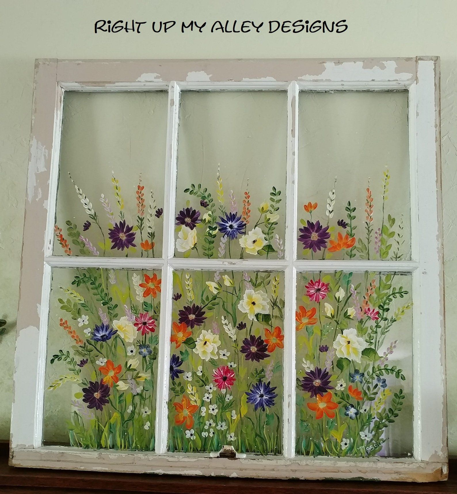 Repurposed Window Ideas Old Painted Window Ideas Shabby Chic Decor