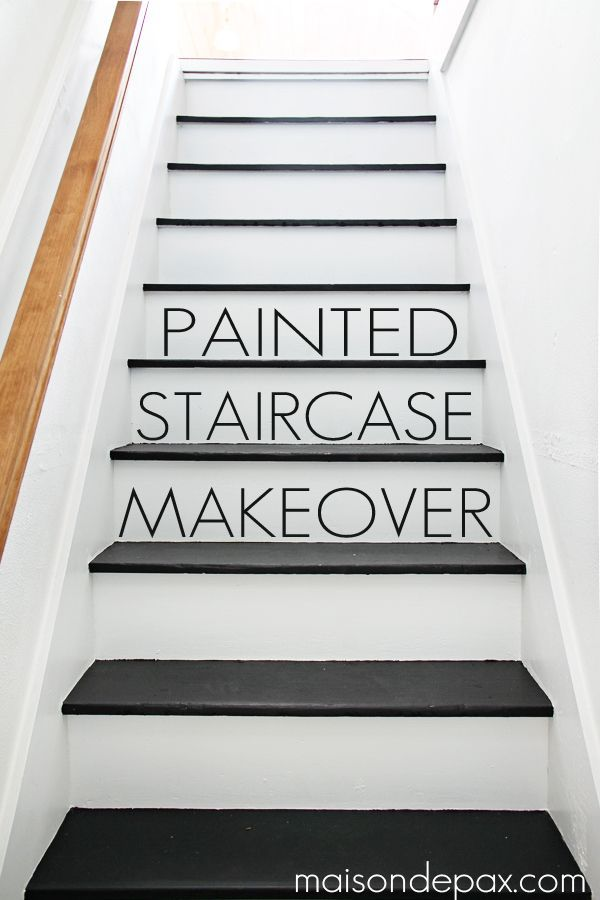 Black and White Painted Stairs | Home Decorating Ideas - bHome ... on paint concrete, paint window design, paint wall design, paint interior design, paint house design, paint bedroom design, paint square design, paint stair treads, paint store design, paint room design, paint chair design, paint kitchen design, paint door design,
