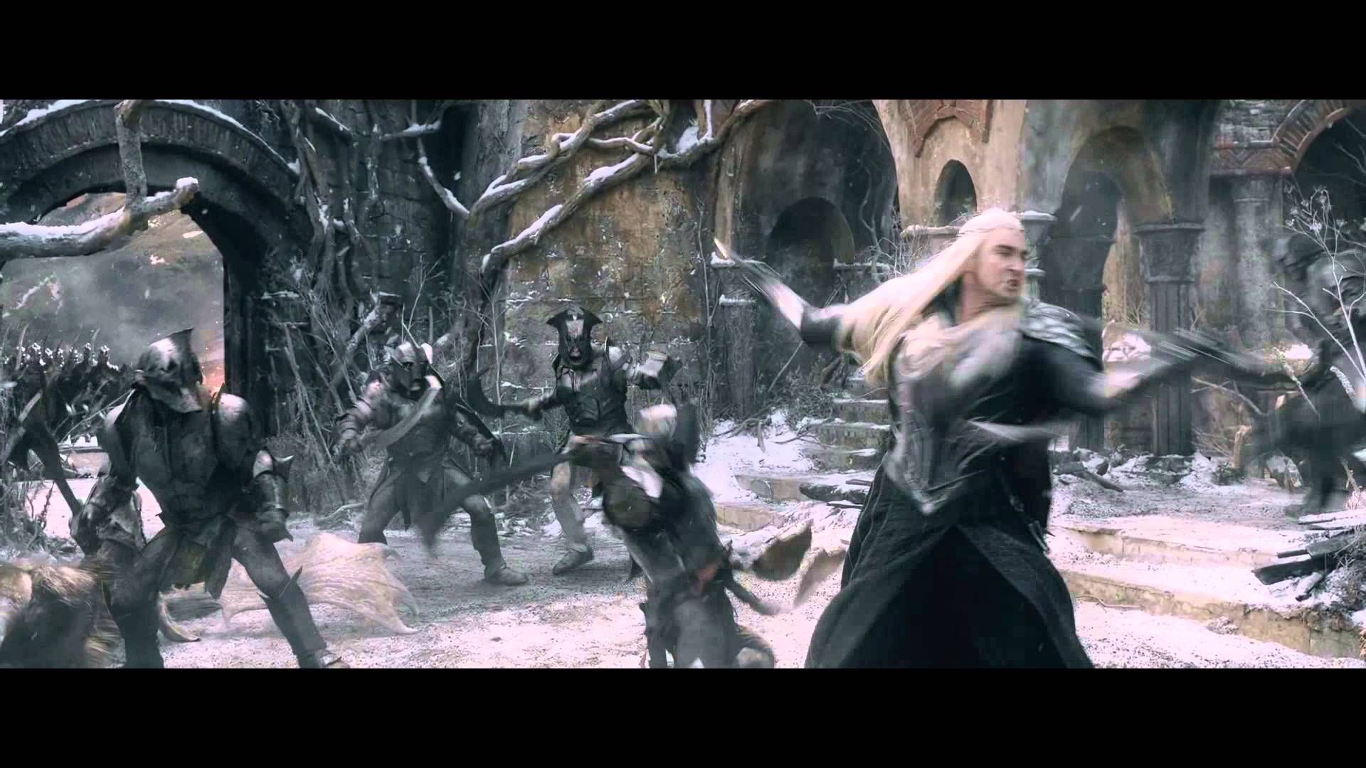 Thranduil's Attack - The Hobbit: Battle of the Five Armies