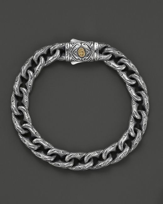 a02a44ed9 Scott Kay Men's Sterling Silver Engraved Twisted Anchor Bracelet w ...