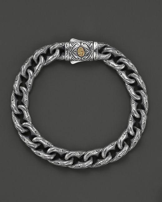 Scott Kay Men S Sterling Silver Engraved Twisted Anchor Bracelet W Mens Gold Bracelets