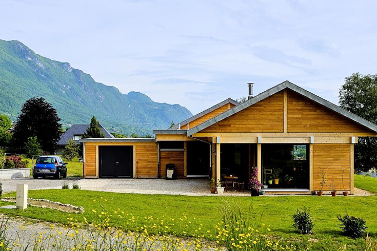 Vision Bois - Réalisations - Maison bois plain-pied Bourget du Lac ...