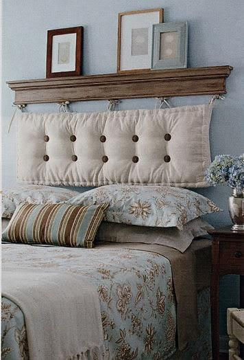 Instead of making own stuffed headboard try using outdoor - What to use instead of a headboard ...