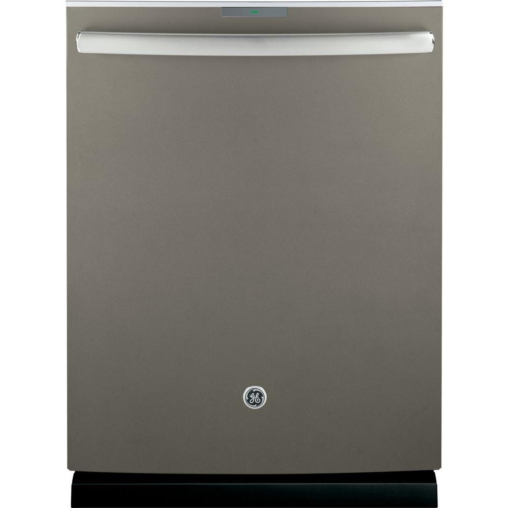 Profile Top Control Smart Dishwasher In Slate With Stainless Steel Tub And Wifi Fingerprint Resistant 40 In 2020 Steel Tub Top Control Dishwasher Built In Dishwasher