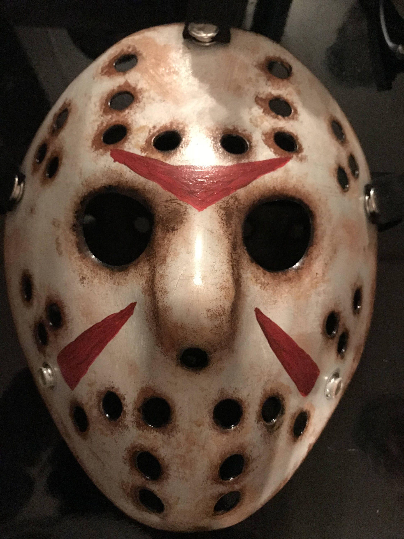 Horror Hockey mask by SkinFXArtistry on Etsy Hockey mask