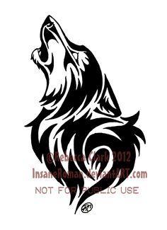 674e23473 Howling Wolf Tribal by InsaneRoman.deviantart.com on @deviantART ...