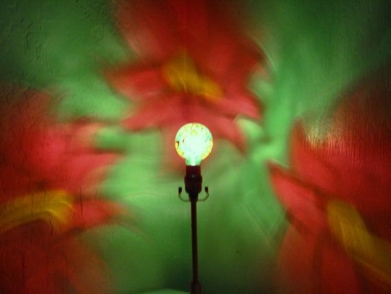 Christmas Poinsettia Red Green Painted Moodlight Bulb 4 Gift Decoration Lights Holiday Party Lightin Mood Light Bulb Porch Lighting