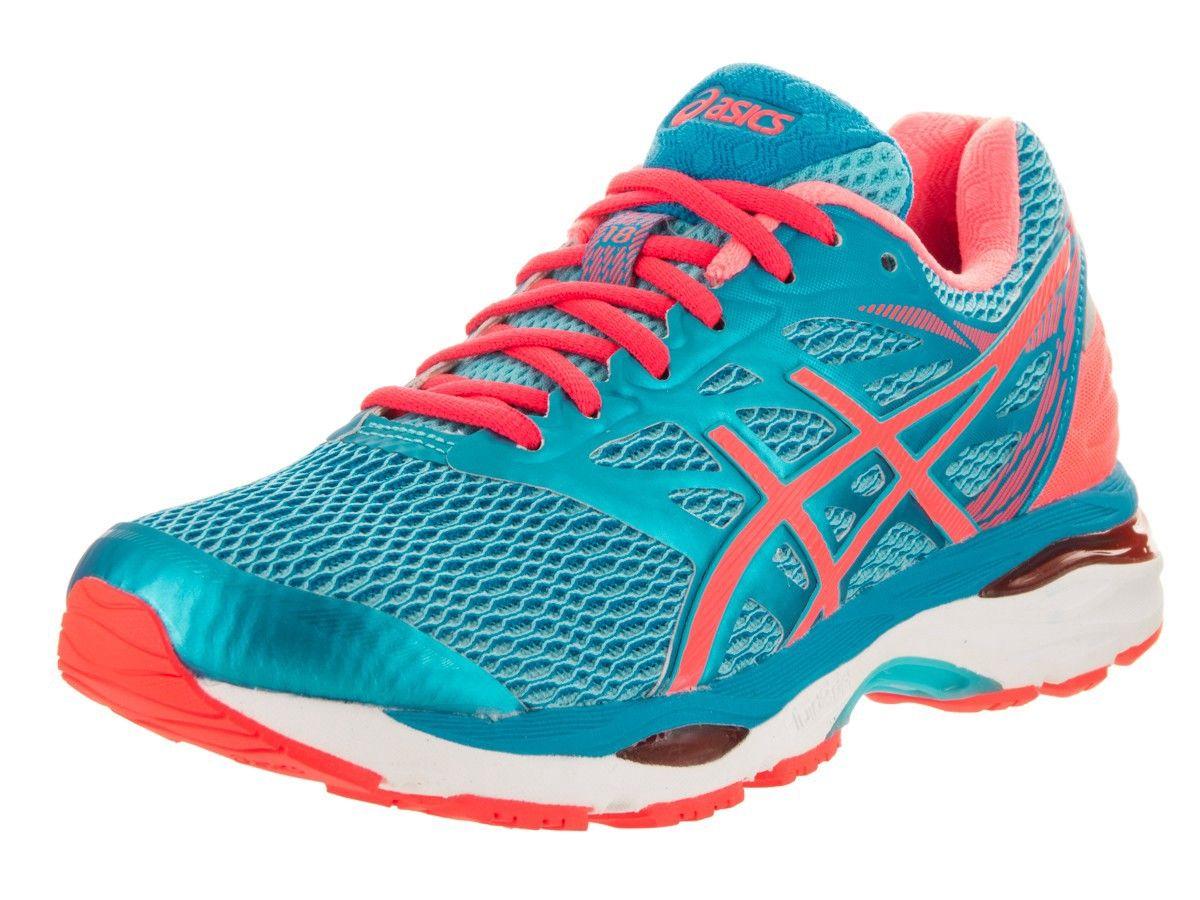 Asics Gel Cumulus In Aquarium Flash Coral Blue Modesens Asics Running Shoes Running Shoes Asics Women