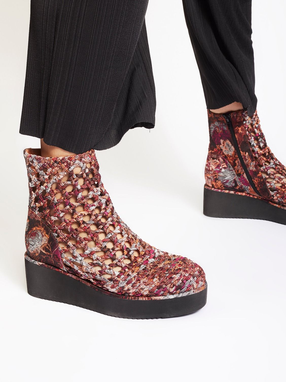 52c433e8bde Jeffrey Campbell + Free People Interlace Platform Boot at Free People  Clothing Boutique