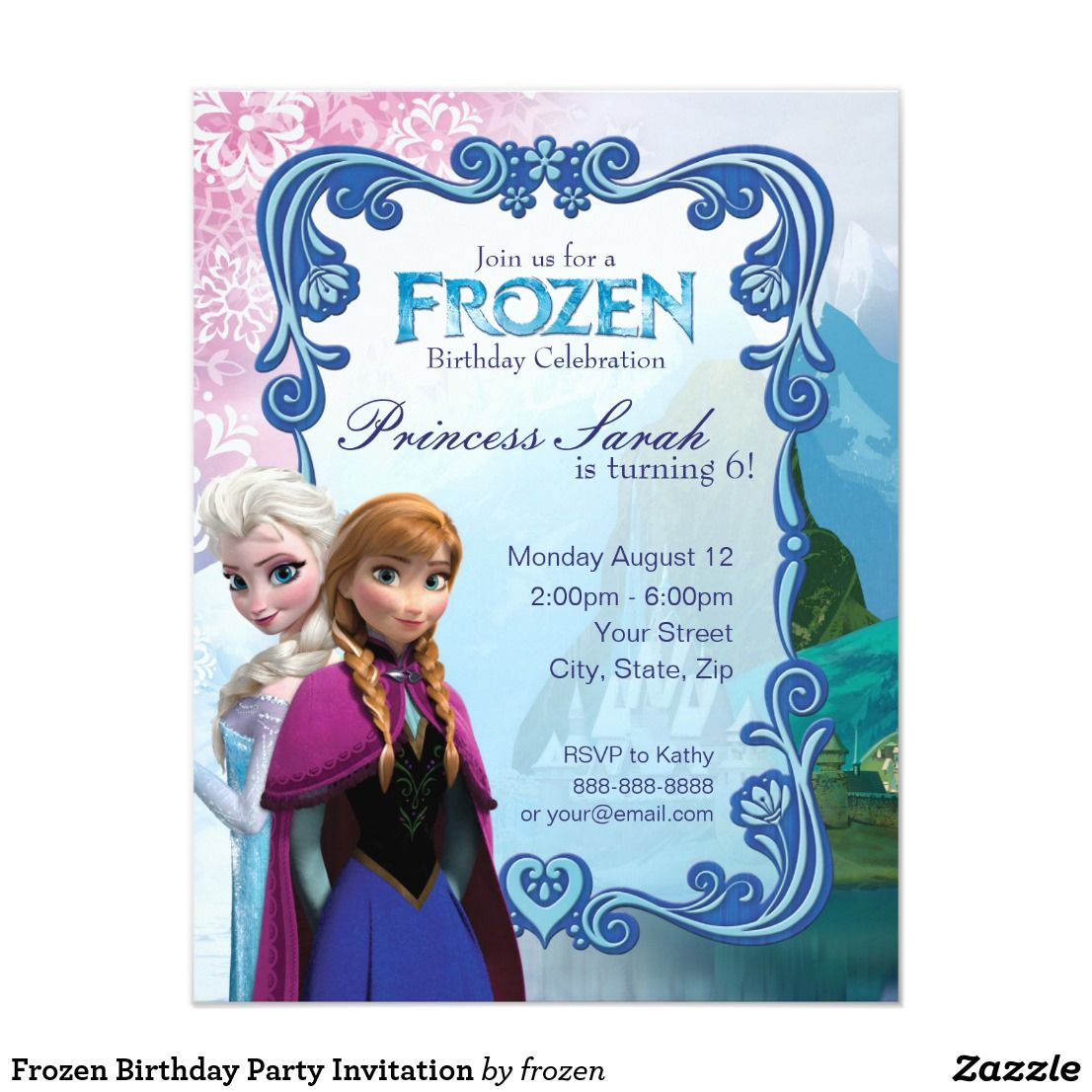 Pin by shopping with adam on birthday invites kids pinterest frozen birthday party invitation tap personalize buy right now filmwisefo