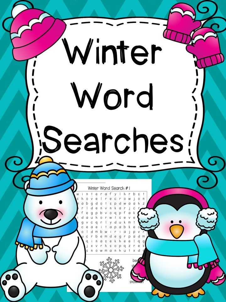 Winter Word Searches Winter words, Word search and Language arts