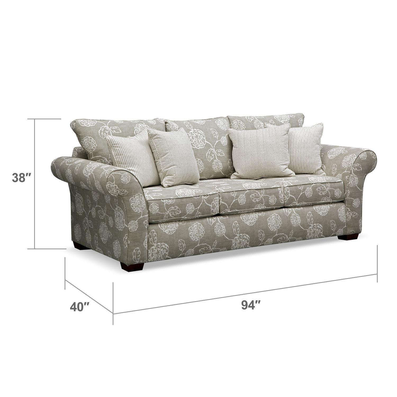 Adele Sofa | Value City Furniture - side sofa | Family Room ...