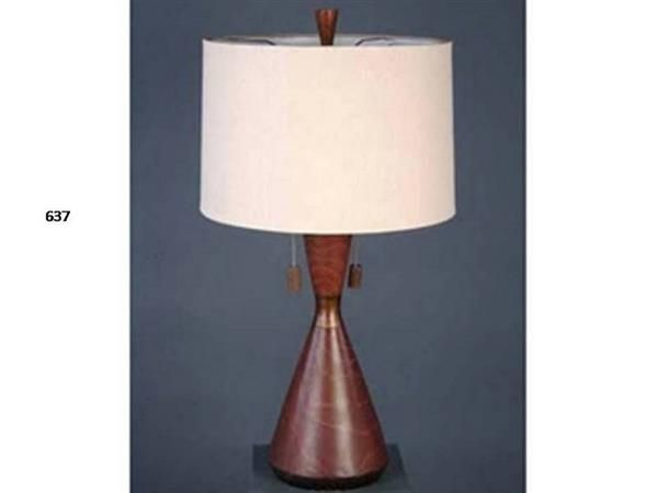 Brooklyn Resin Lite Cherry Glass Shade Table Lamp